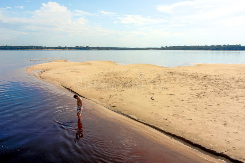 内格罗河 库存照片