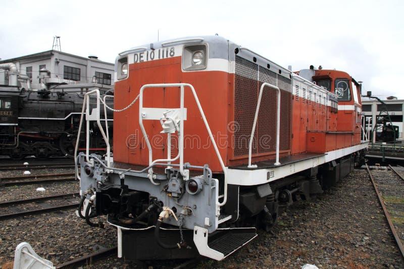 内燃机车在umekoji蒸汽机车棚子,京都,日本