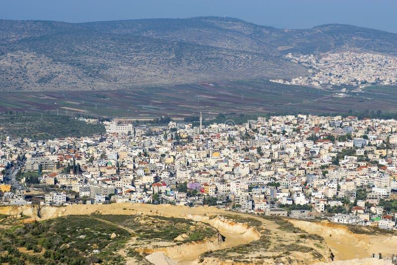 内盖夫加利利坎纳村,拿撒勒的圣经的村庄Cana在以色列 库存照片