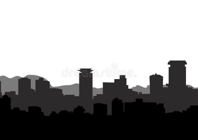 内罗毕城市的地平线视图 皇族释放例证