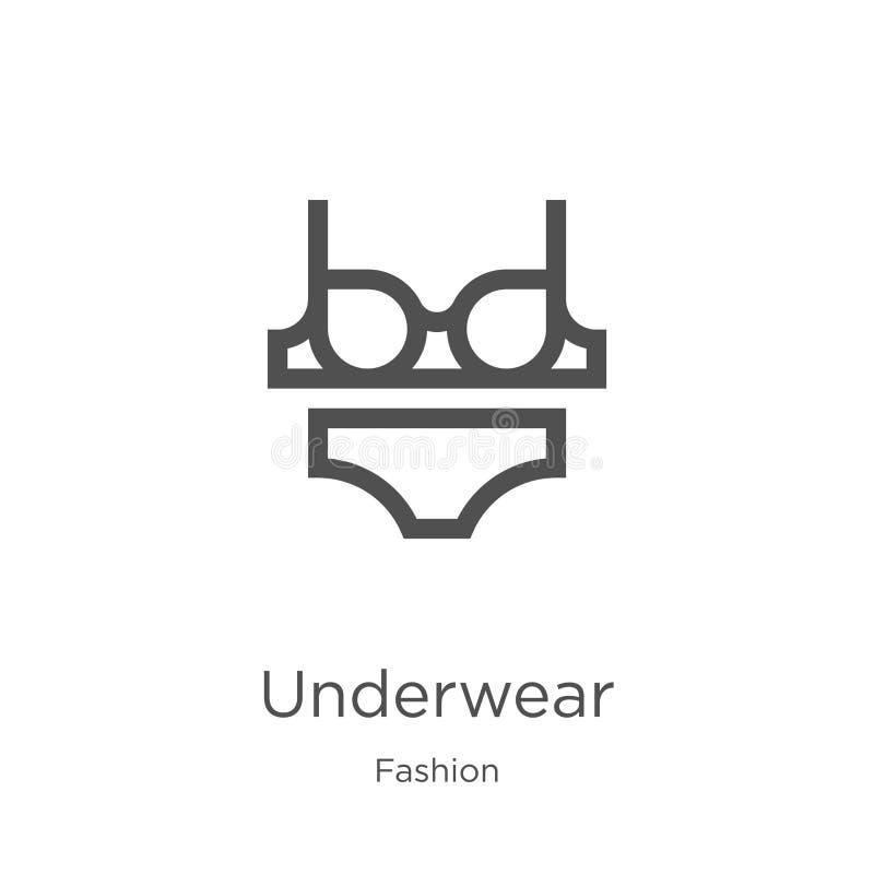 内衣从时尚汇集的象传染媒介 稀薄的线内衣概述象传染媒介例证 概述,稀薄的线内衣 向量例证