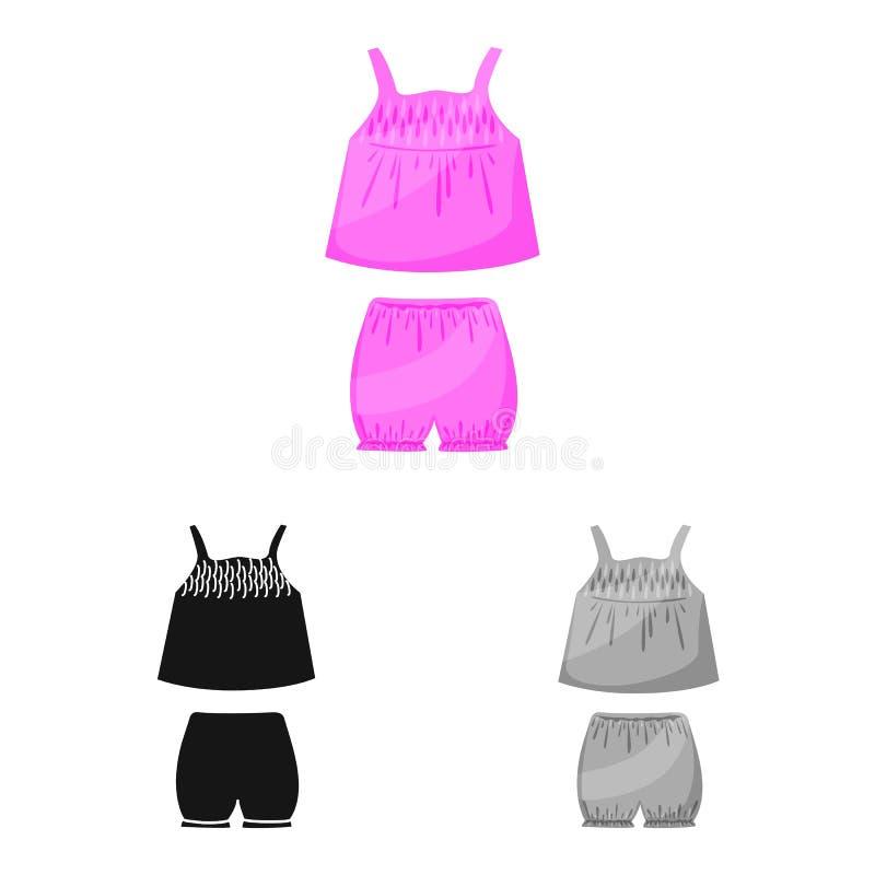 内衣和女孩标志传染媒介设计  设置内衣和裤子储蓄传染媒介例证 库存例证