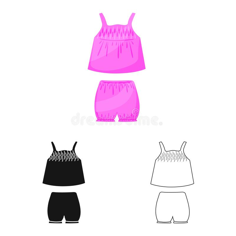 内衣和女孩标志被隔绝的对象  内衣和裤子储蓄传染媒介例证的汇集 向量例证