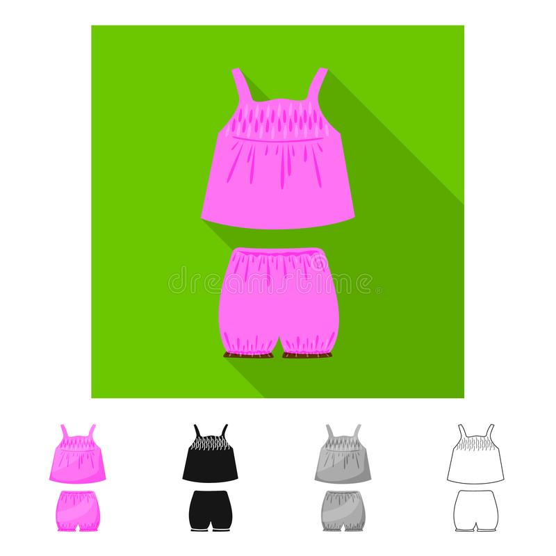 内衣和女孩象被隔绝的对象  设置内衣和裤子股票的传染媒介象 库存例证