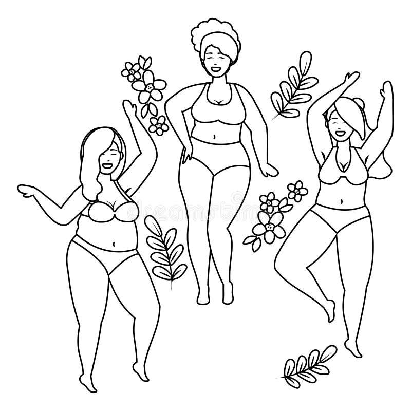 内衣设计的妇女具体化 皇族释放例证