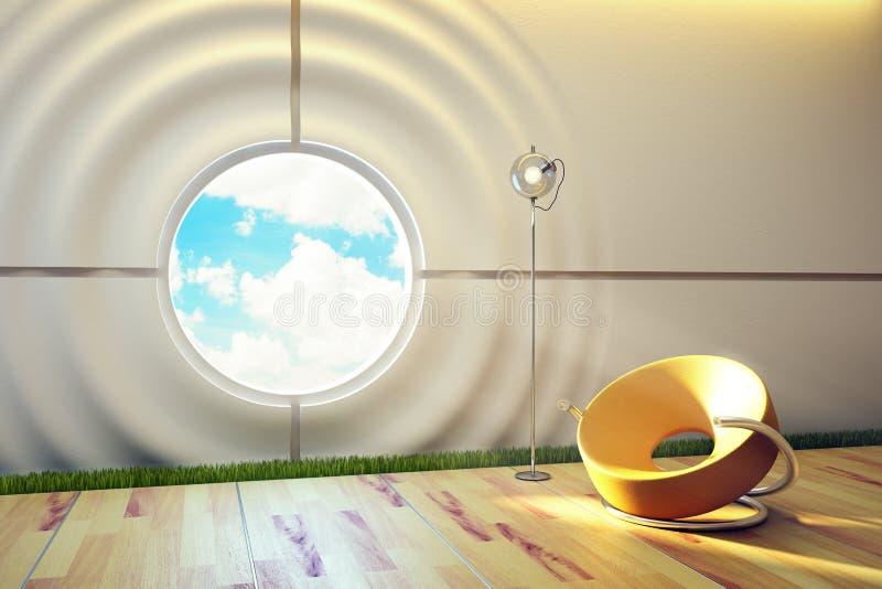 内部休息室现代空间 皇族释放例证