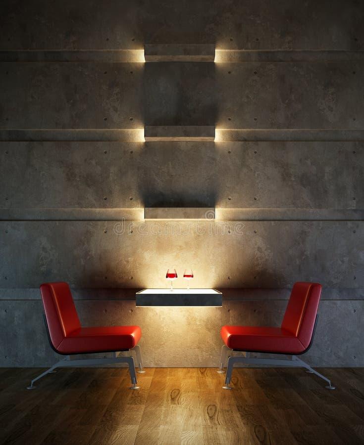 内部休息室空间 库存例证