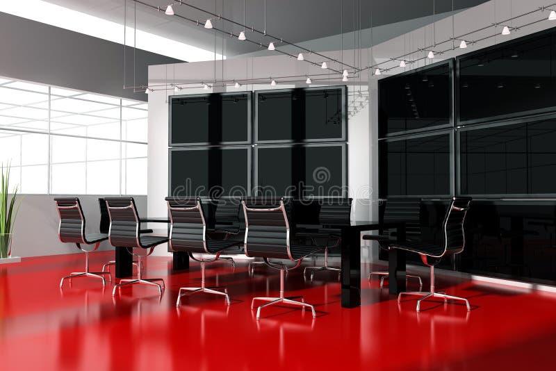 内部会议现代空间 皇族释放例证