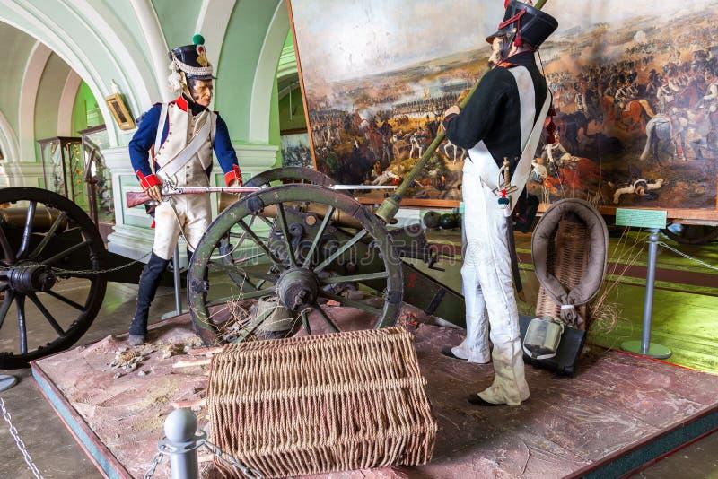 内部其中一个火炮博物馆的大厅  库存照片