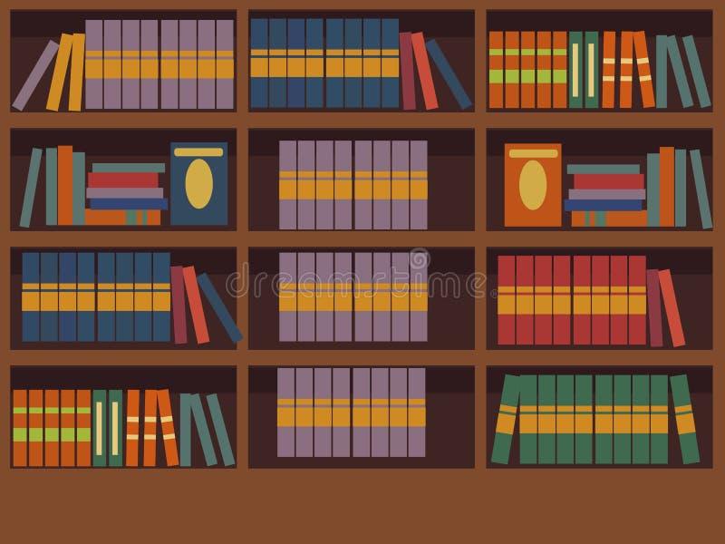 内部图书馆室传染媒介上色了 一套书 屋子和心境的安宁的设计读书的 ? 皇族释放例证