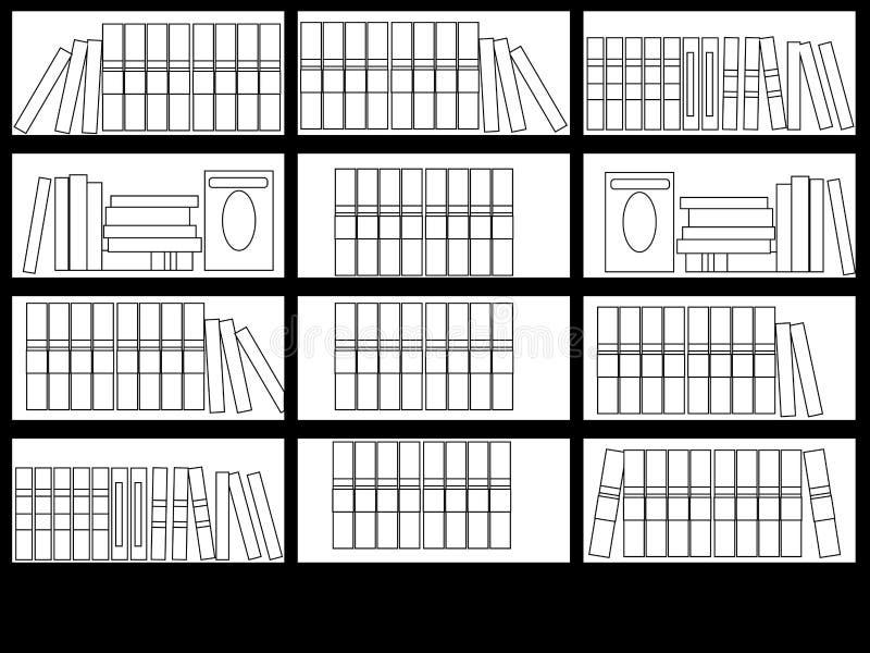 内部图书馆室传染媒介着色 一套书 屋子和心境的安宁的设计读书的 ? 皇族释放例证
