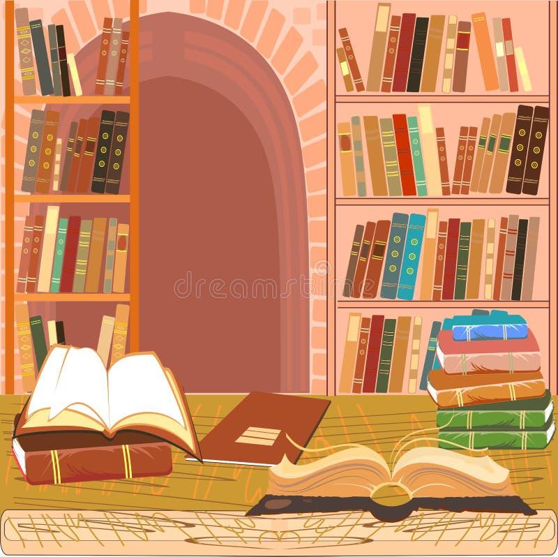 内部图书馆 库存例证