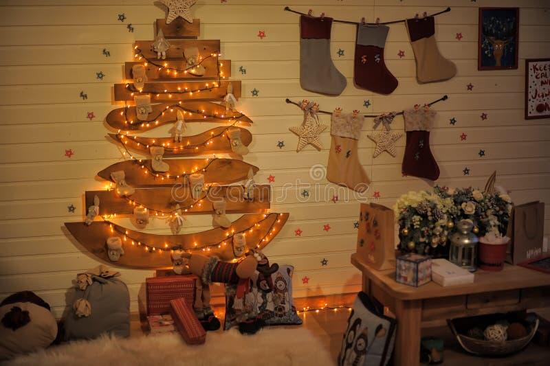 内部圣诞节 库存例证