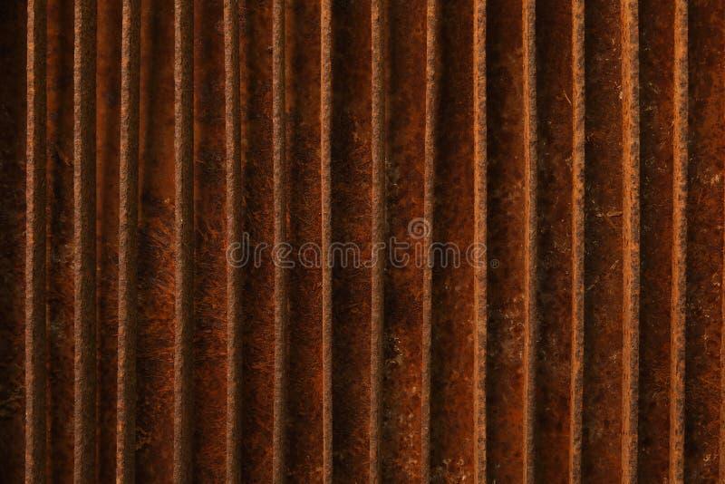 内部外部装饰和工业建筑构思设计的生锈的金属纹理背景 库存图片