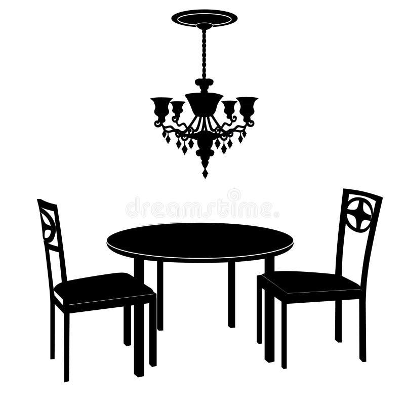 内部家具餐厅概念内部 库存例证
