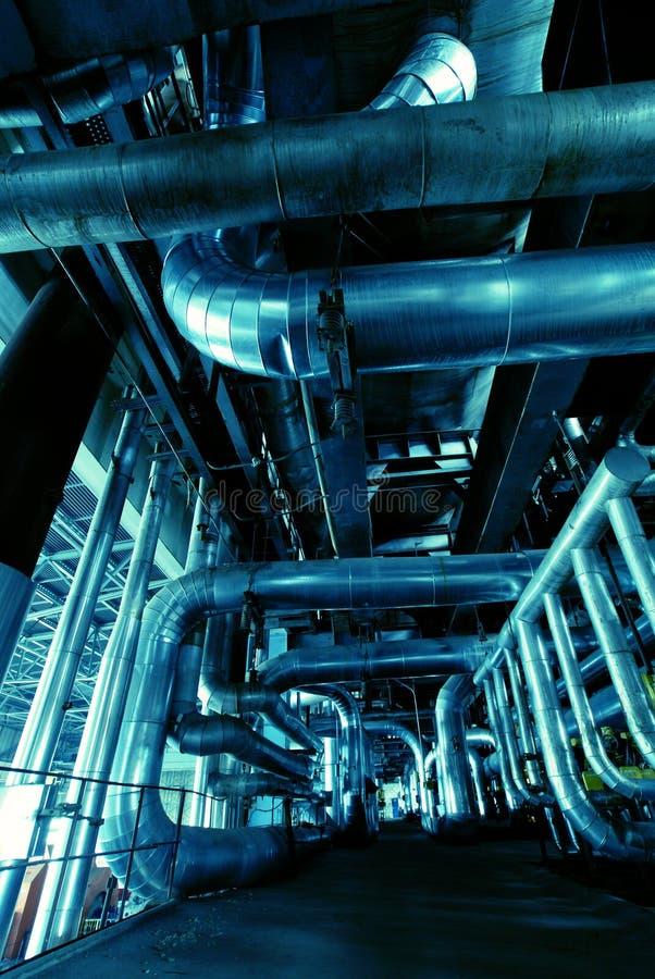 内部工厂处理水 免版税库存照片