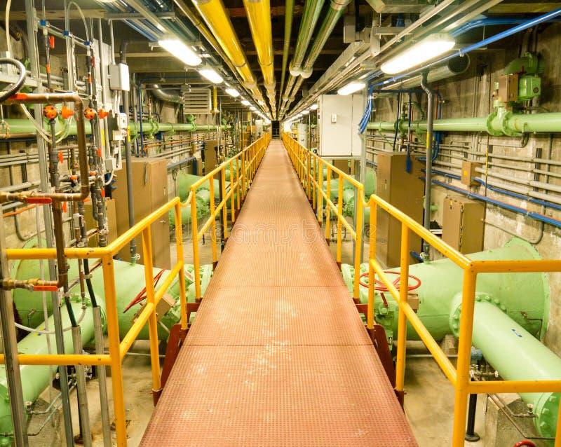 内部工厂处理水 免版税库存图片