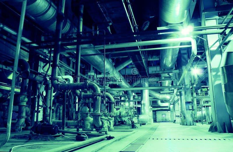 内部工厂处理水 免版税图库摄影