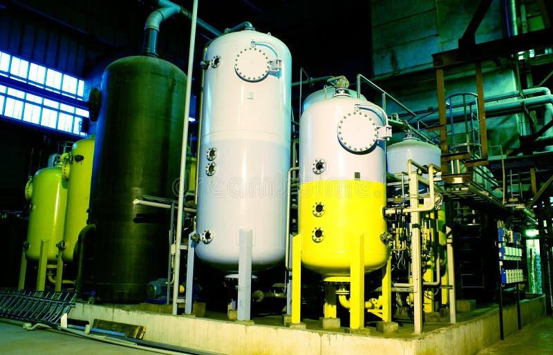 内部工厂处理水 库存照片