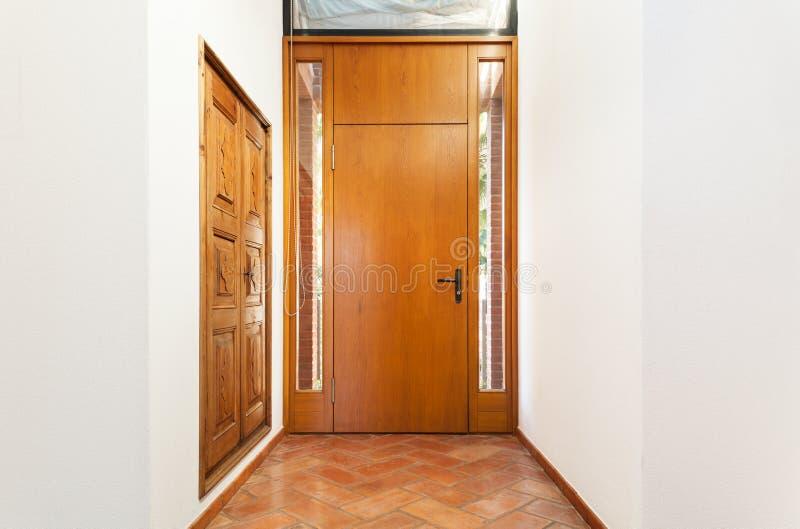 内部房子,入口 免版税库存图片