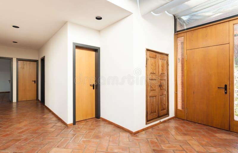 内部房子,入口 库存图片