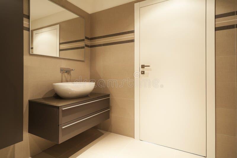 内部房子,卫生间 库存图片