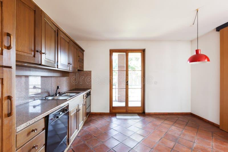 内部房子,厨房 免版税库存照片