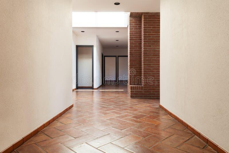 内部房子,走廊 库存图片