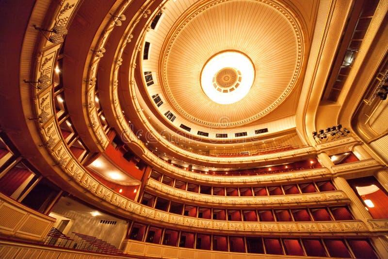 内部歌剧维也纳 免版税库存照片