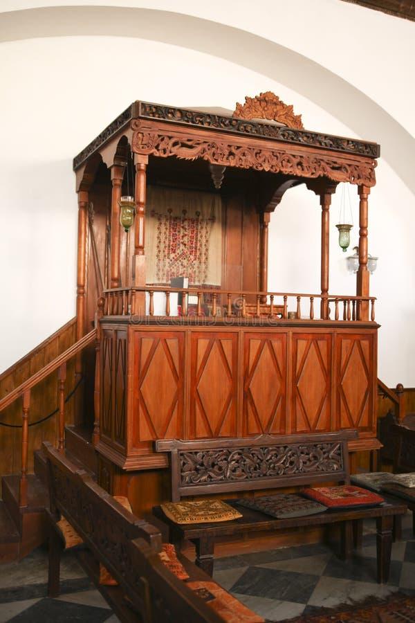 内部犹太教堂 库存照片