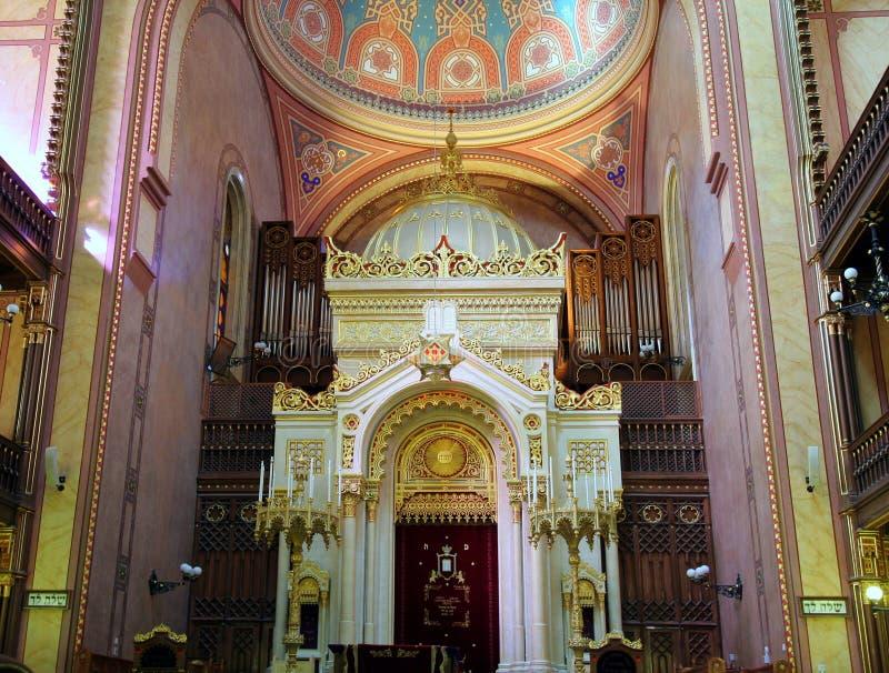 内部犹太教堂 免版税库存照片