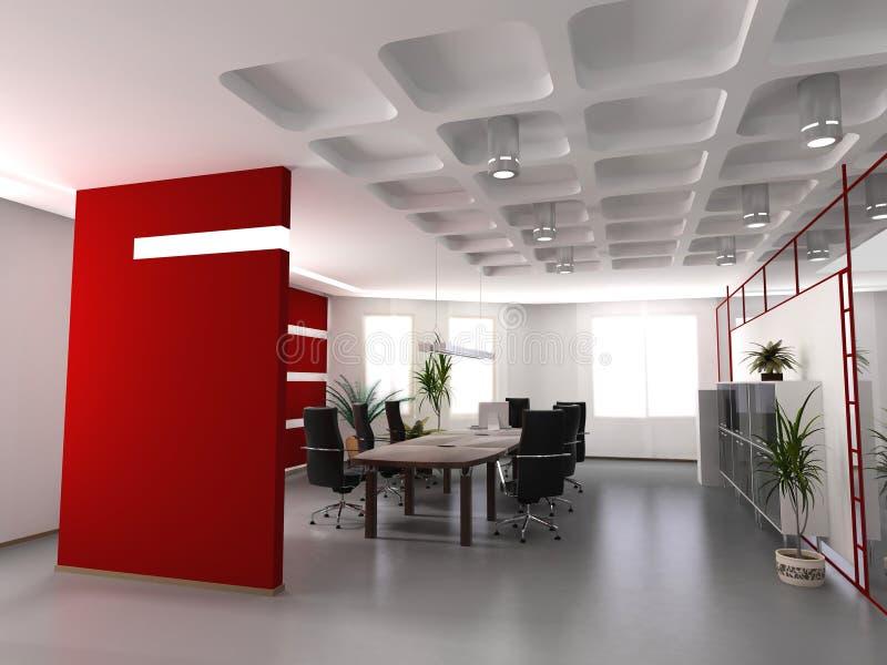 内部现代办公室 免版税库存照片