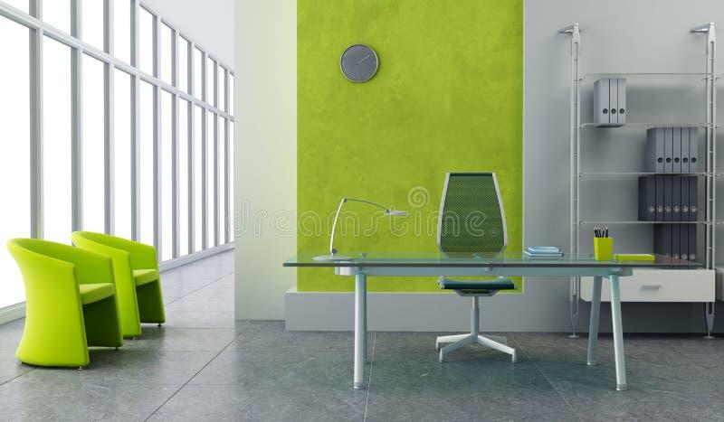 内部现代办公室 向量例证