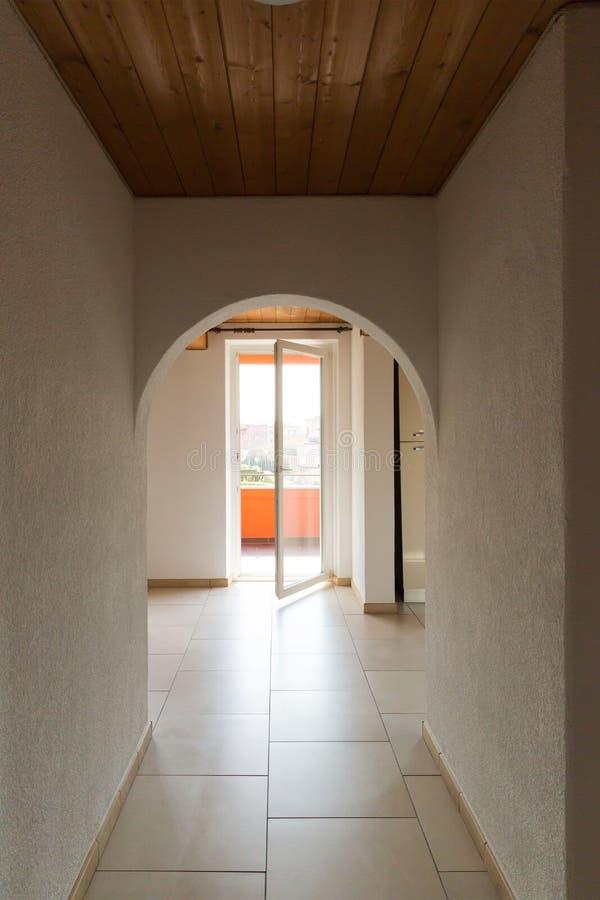 内部现代房子,没人里面 库存图片