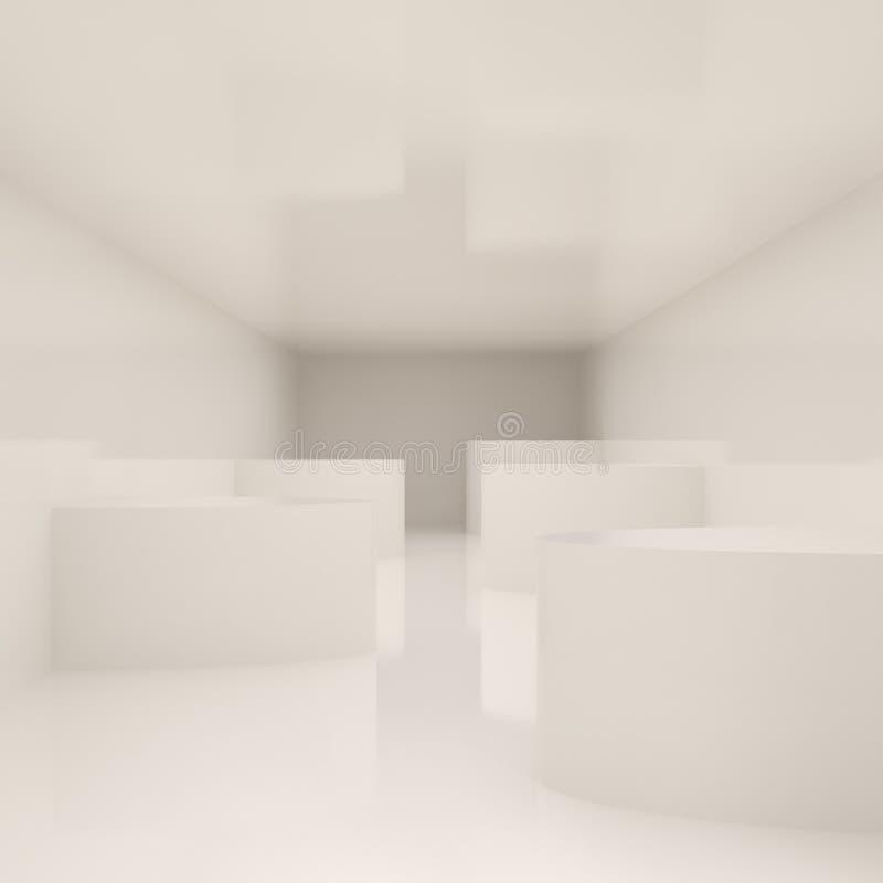 内部现代白色 库存例证