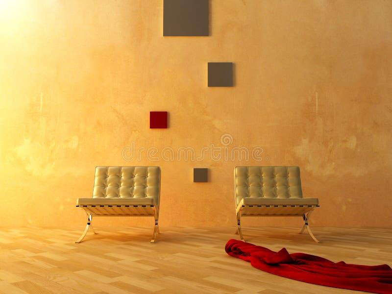 内部现代空间样式等待 向量例证