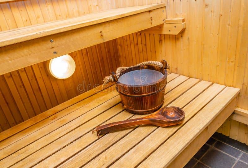 内部现代蒸汽浴 免版税库存图片