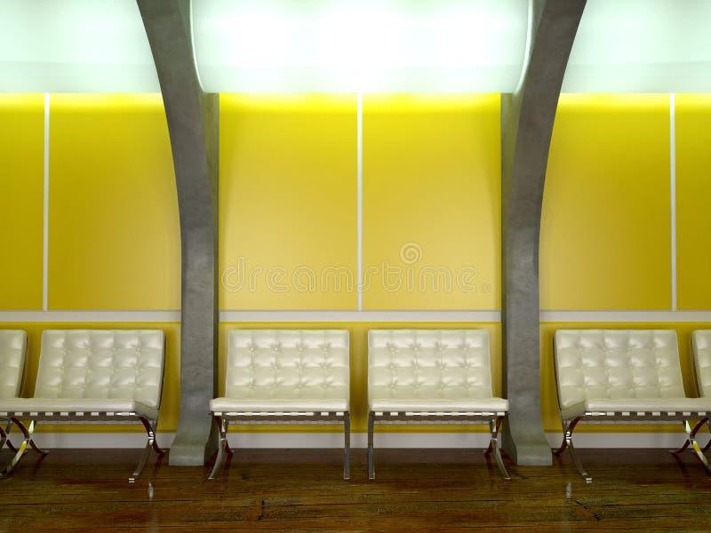 内部现代黄色 库存例证