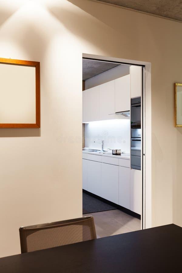 内部现代房子 免版税库存照片