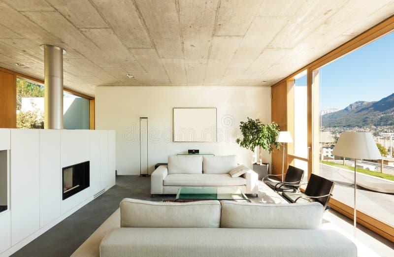 内部现代房子 库存图片