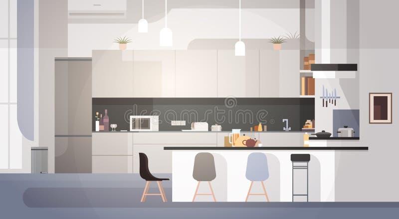 内部现代的厨房不倒空人议院室 皇族释放例证