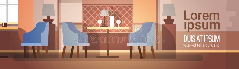内部现代的咖啡馆不倒空人餐馆 皇族释放例证