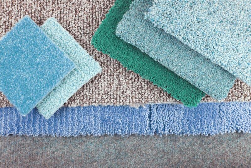 内部的地毯选择 库存照片
