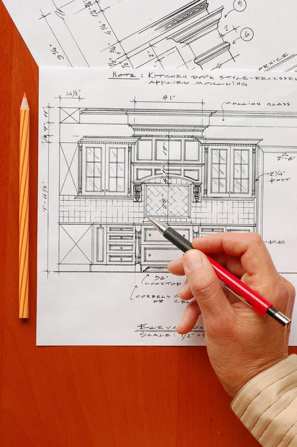 内部的设计图 库存图片