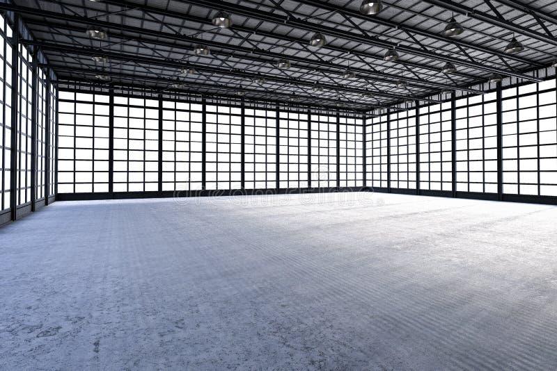 内部空的工厂 库存图片