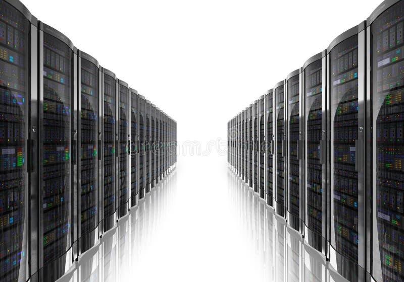 内部空间服务器 库存例证