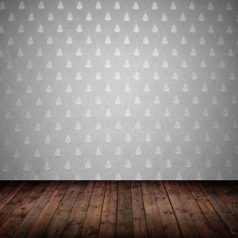 内部纸空间墙壁 皇族释放例证