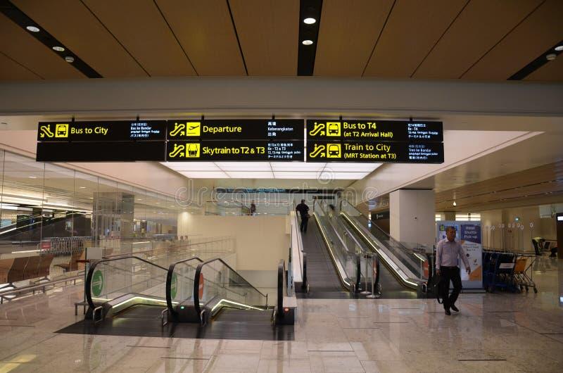 内部终端1在樟宜机场新加坡 免版税库存图片