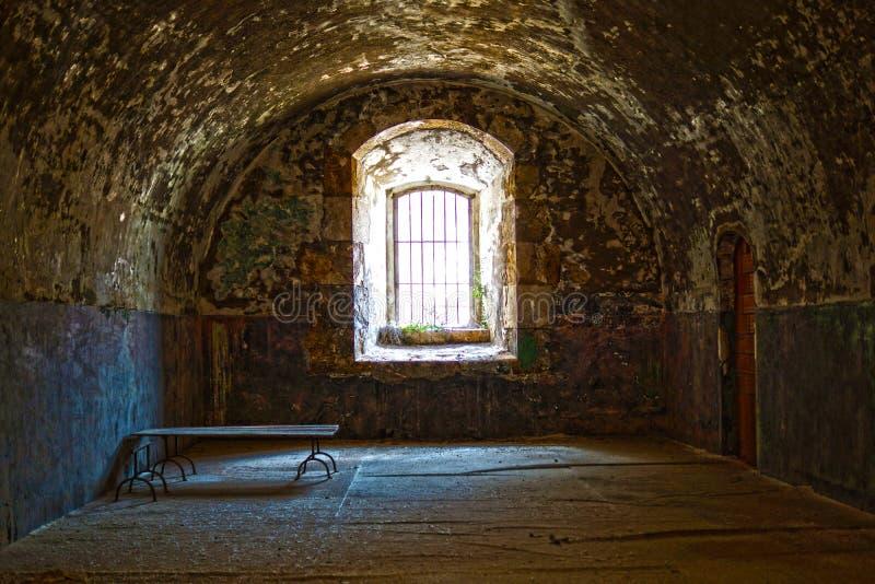 内部西班牙桑特弗尔朗城堡 免版税库存图片