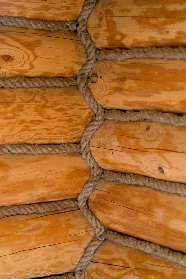 内部角落在一个老木房子里 库存照片